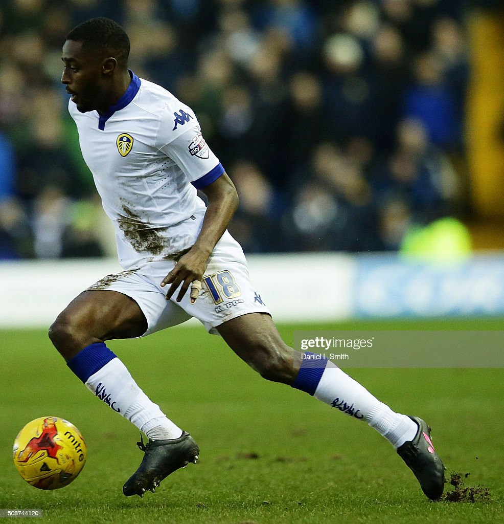 Mustafa Carayol of Leeds United FC during the Sky Bet Championship match between Leeds United and Nottingham Forest on February 6, 2016 in Leeds, United Kingdom.
