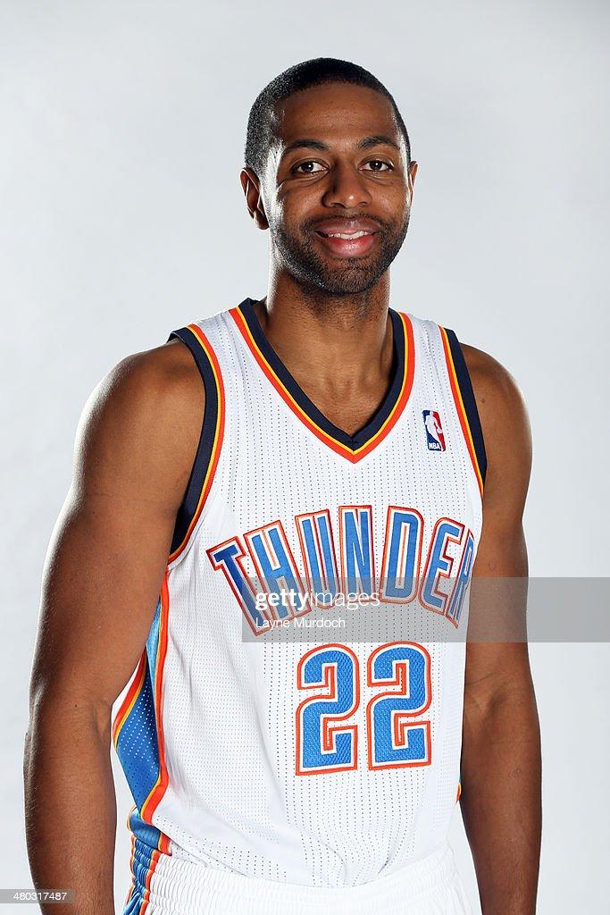 Mustafa Shakur #22 of the Oklahoma City Thunder poses for portrait photos on March 23, 2014 at Chesapeake Energy Arena in Oklahoma City, Oklahoma.