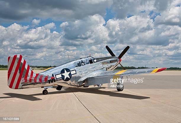 P51 Mustang abris anti-Avion de chasse deux