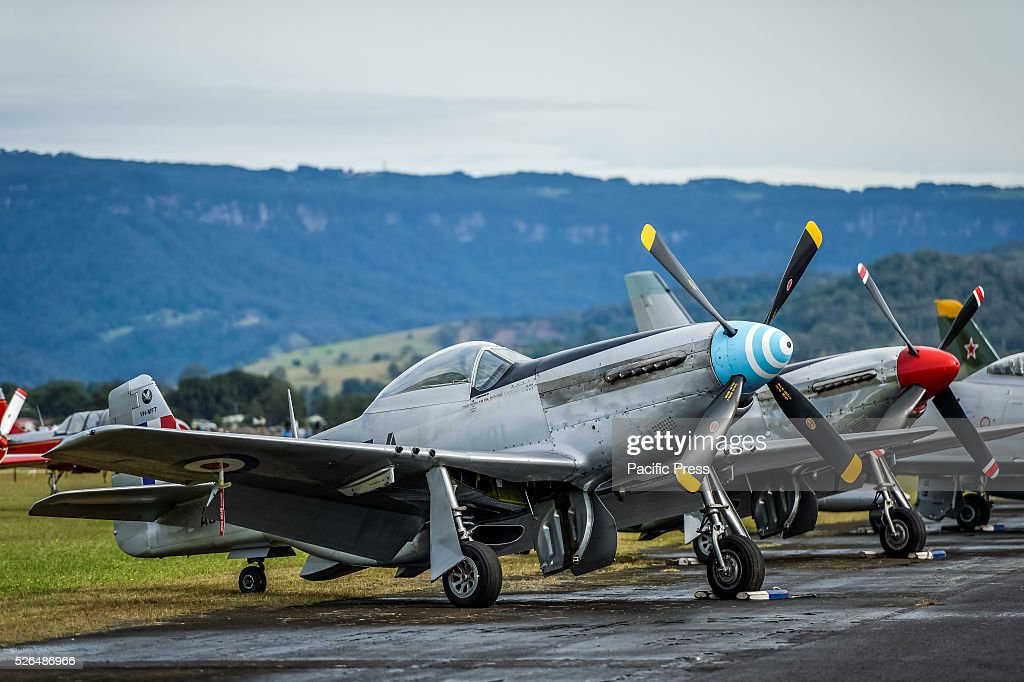 Mustangs on the flight line prior to their first air display at the annual 'Wings Over Illawarra' Airshow at the Illawarra Regional Airport.