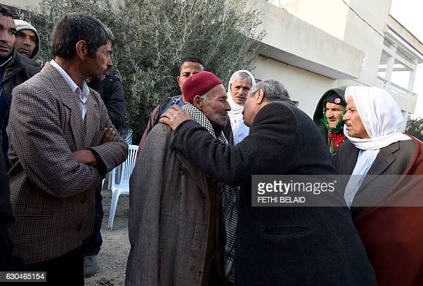 Mustapha Amri the father of 24yearold Anis Amri the prime suspect in Berlin's deadly truck attack receives condolences outside of the family house in...