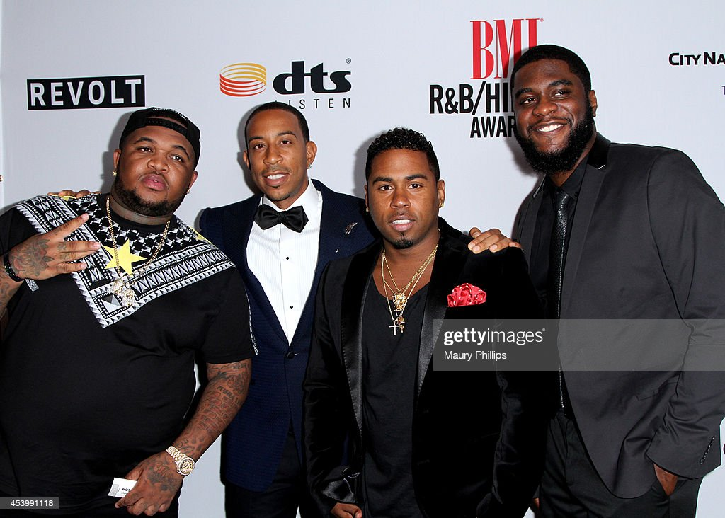 <a gi-track='captionPersonalityLinkClicked' href=/galleries/search?phrase=DJ+Mustard&family=editorial&specificpeople=8795056 ng-click='$event.stopPropagation()'>DJ Mustard</a>, honoree Chris '<a gi-track='captionPersonalityLinkClicked' href=/galleries/search?phrase=Ludacris&family=editorial&specificpeople=203034 ng-click='$event.stopPropagation()'>Ludacris</a>' Bridges, recording artist Bobby V, and recording artist <a gi-track='captionPersonalityLinkClicked' href=/galleries/search?phrase=Big+K.R.I.T.&family=editorial&specificpeople=8205057 ng-click='$event.stopPropagation()'>Big K.R.I.T.</a> attend the 2014 BMI R&B/Hip-Hop Awards at the Pantages Theatre on August 22, 2014 in Hollywood, California.