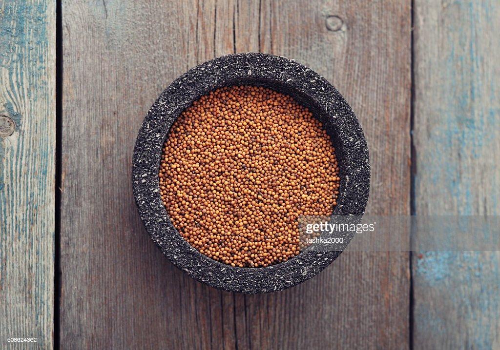 Mustard seeds : Stock Photo