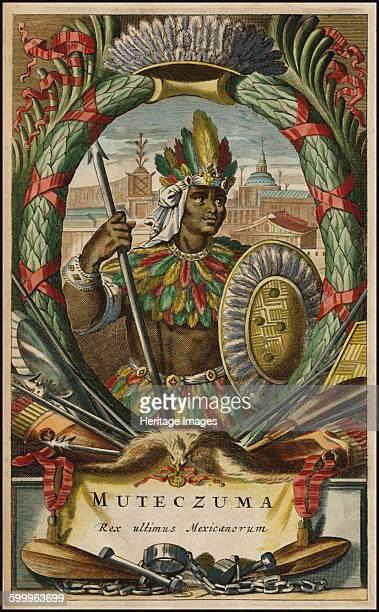 Muteczuma Rex ultimis Mexicanorum 1671 Private Collection Artist Ogilby John