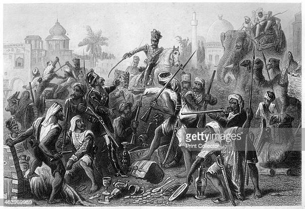 'Mutinous Sepoys dividing spoils' Scene during the period of East India Company rule Illustration from The History of the Indian Mutiny by Charles...