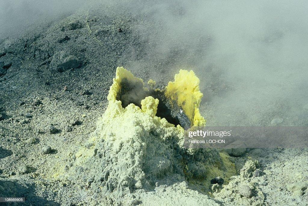 Mutnovsky is a composite stratovolcano in Russia in 1993