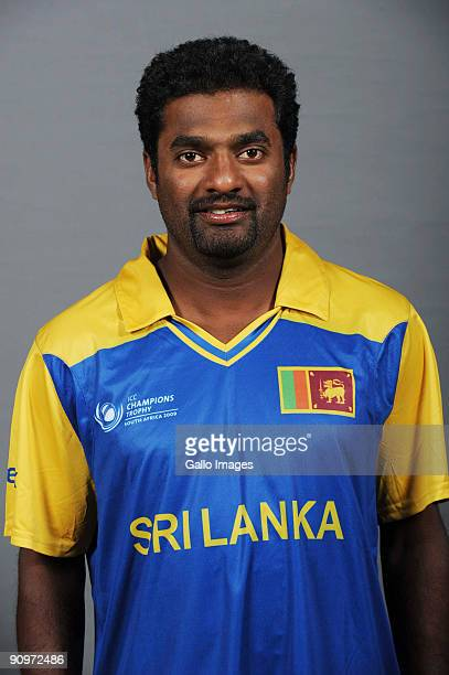 Muttiah Muralitharan poses during the ICC Champions photocall session of Sri Lanka at Sandton Sun on September 19 2009 in Sandton South Africa