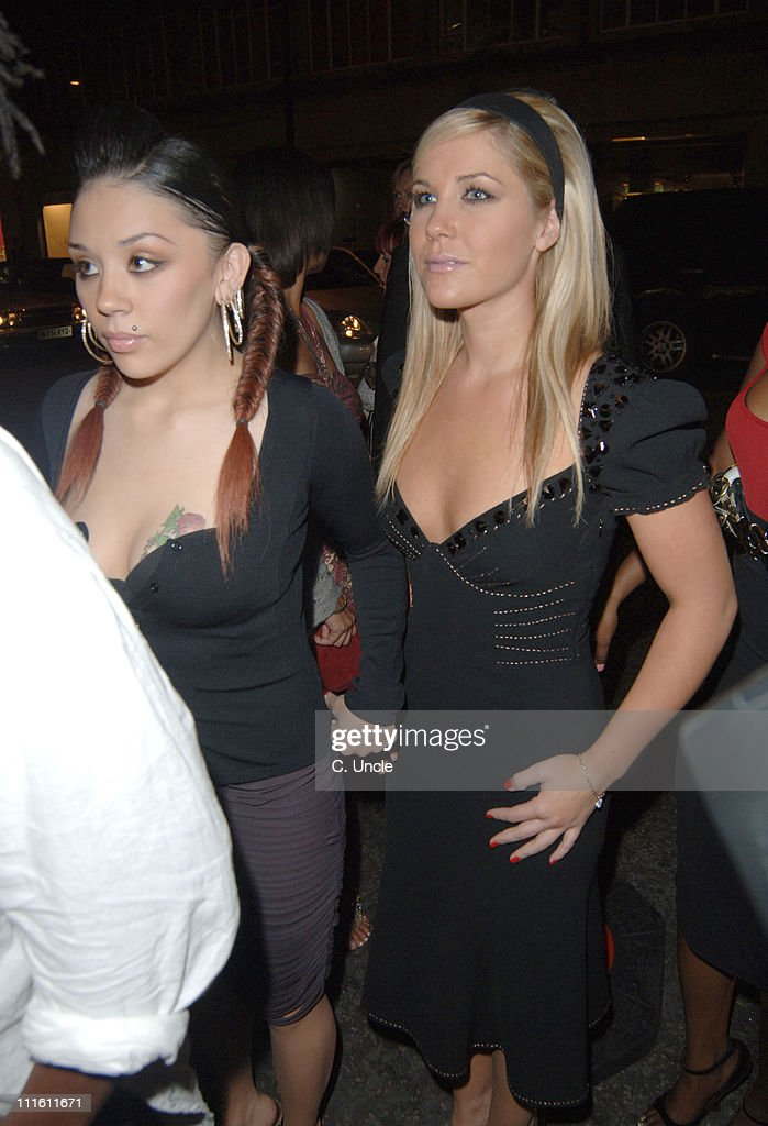 Mutya Buena and Heidi Range from Sugababes during Versace Store Relaunch Party at Versace Sloane Street in London, Great Britain.
