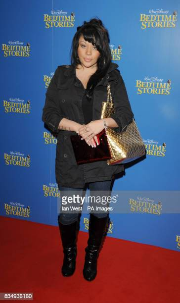 Mutya Buena arrives at the premiere of Bedtime Stories at the Odeon cinema in Kensington central London