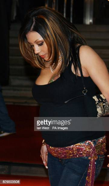 Mutya Buena from the Sugababes arrives