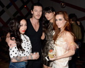 Mutya Buena Luke Evans Lilah Parsons and Siobhán Donaghy attend the after party for the NME Awards at Sketch on February 26 2014 in London England