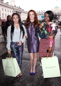 Mutya Buena Siobhan Donaghy and Keisha Buchanan are sighted during London Fashion Week on September 14 2013 in London England