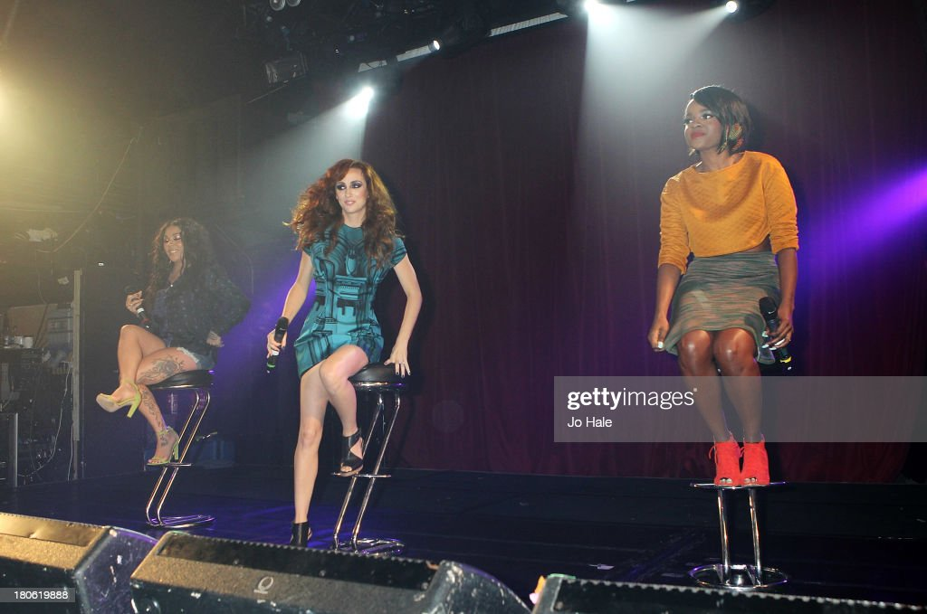 Mutya Buena, Siobhan Donaghy and Keisha Buchanan perform on stage at G-A-Y on September 14, 2013 in London, England.