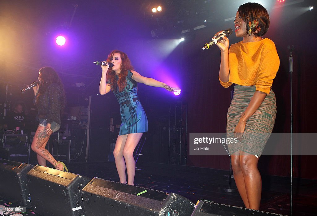 Mutyna Buena, Siobhan Donaghy and Keisha Buchanan perform on stage at G-A-Y on September 14, 2013 in London, England.