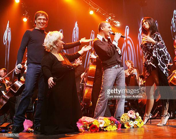 I Muvrini Mimie Mathie Faudel and Anggun during 'The 2006 Night of The Proms' at Nikaia in Nice France