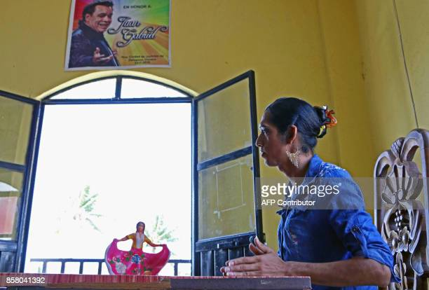 'Muxe' Estrella Vasquez is pictured during an interview with AFP at the Juchitan community in Oaxaca State Mexico on July 26 2017 Muxes have been...
