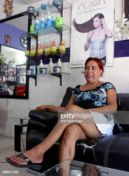 'Muxe' Felina Santiago stylist and sexual diversity activist speaks with AFP during an interview at the Juchitan community in Oaxaca State Mexico on...