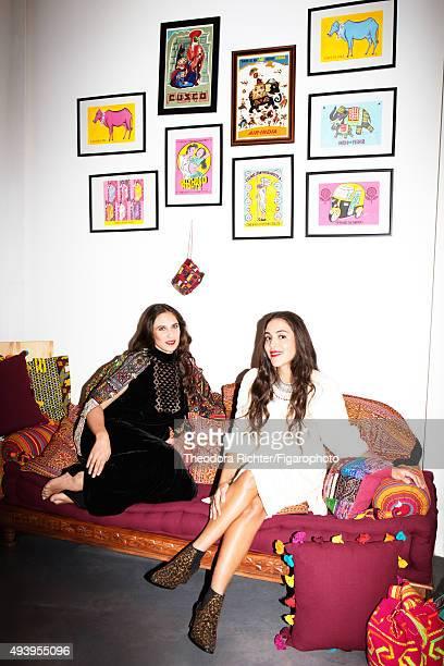 Muzungu Sisters fashion designers Dana Alikhani and Tatiana Santo Domingo are photographed for Madame Figaro on September 8 2015 in Paris France...