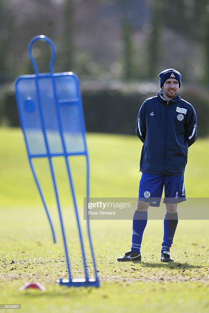 Muzzy Izzet of Leicester City during the teams training session at the Blevoir Drive training ground on February 26, 2004 in Leicester, England.