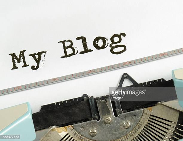 Mon Blog RetroTypewriter
