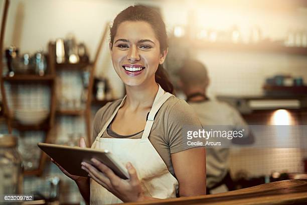 My cafe caters to online and in-store customers