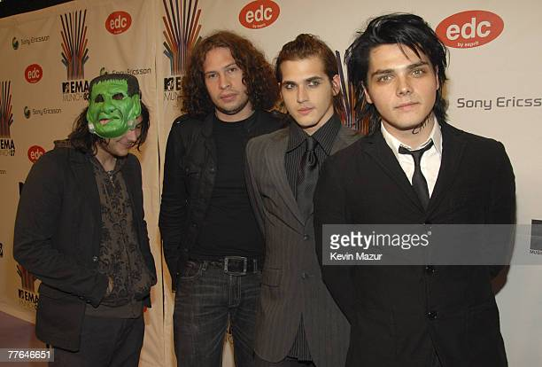 My Chemical Romance arrives at the 2007 MTV Europe Music Awards at Olympiahalle on November 1 2007 in Munich