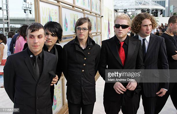 My Chemical Romance during 2005 MTV Video Music Awards Arrivals at American Airlines Arena in Miami Florida United States