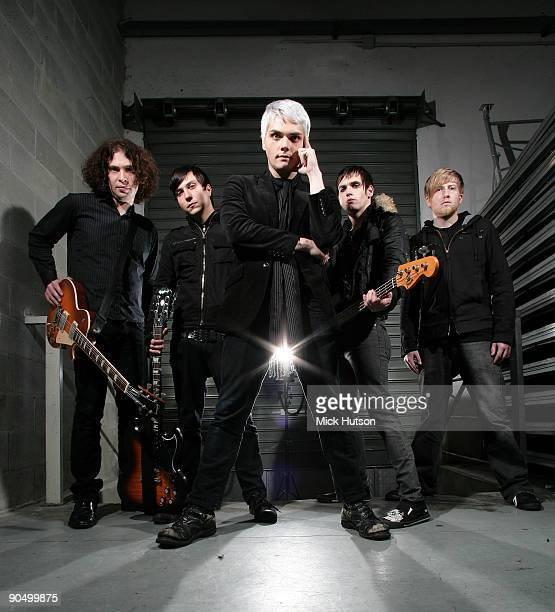 My Chemical Romance posed backstage in Milan on November 21 2006 LR Ray Toro Frank IeroGerard Way Mikey Way Bob Bryar
