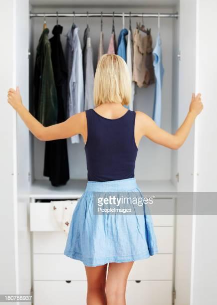 Il mio guardaroba è full.of cose che non usura.