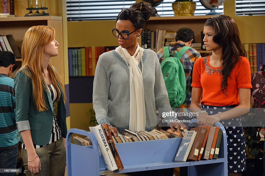 UP - 'My Fair Librarian It Up' - CeCe and Rocky help Miss Burke win over the heart of her crush, Mr. Zigfeld, while Logan, Ty and Deuce help Flynn build a soapbox car. Guest starring Tyra Banks as Miss Burke, Alfonso Ribeiro as Mr. Zigfeld, Leo Howard as Logan and Carly Rae Jepsen as herself. Alfonso Ribeiro directs this episode of 'Shake It Up' airing on SUNDAY, FEBRUARY 24 9:00 PM - 9:30 PM ET/PT), on Disney Channel. BANKS, ZENDAYA