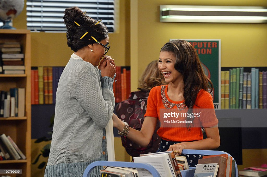 UP - 'My Fair Librarian It Up' - CeCe and Rocky help Miss Burke win over the heart of her crush, Mr. Zigfeld, while Logan, Ty and Deuce help Flynn build a soapbox car. Guest starring Tyra Banks as Miss Burke, Alfonso Ribeiro as Mr. Zigfeld, Leo Howard as Logan and Carly Rae Jepsen as herself. Alfonso Ribeiro directs this episode of 'Shake It Up' airing on SUNDAY, FEBRUARY 24 9:00 PM - 9:30 PM ET/PT), on Disney Channel. TYRA
