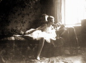 'My first carnival costume' is the title Eva Braun wrote underneath this 1928 photo in her album She was living with her family in Munich Germany and...