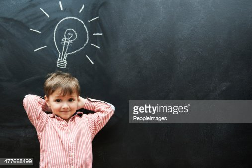 My future is looking brighter than this lightbulb : Stock Photo