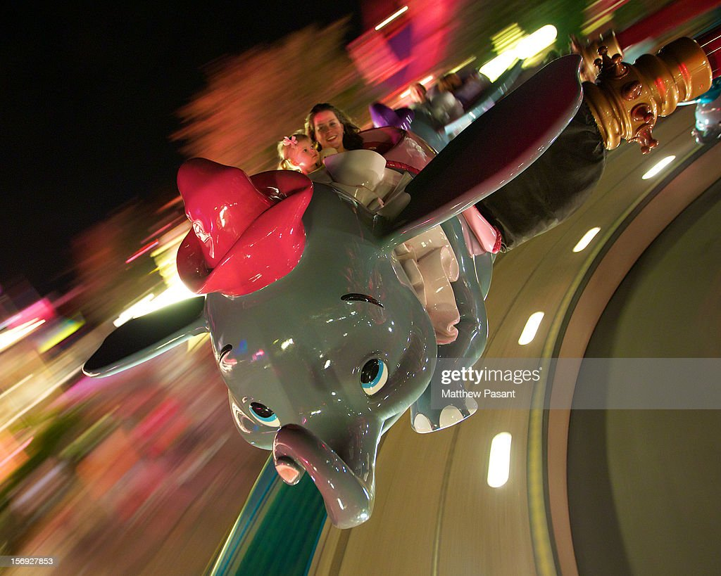 "My girls having a blast in flight with Dumbo. Initially, our daughter had zero interest in riding this ride, once our friend took flight it was a different story. For that last five weeks we've been reminded by her that ""I rode Dumbo at Disney World."" And people say kids this age do not remember their trips..."