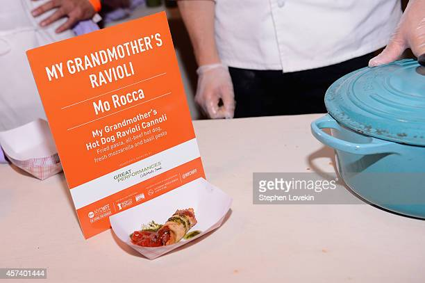 My Grandmother's Hot Dog Ravioli Cannoli on display at Hot Dog Happy Hour with Mo Rocca during the Food Network New York City Wine Food Festival...