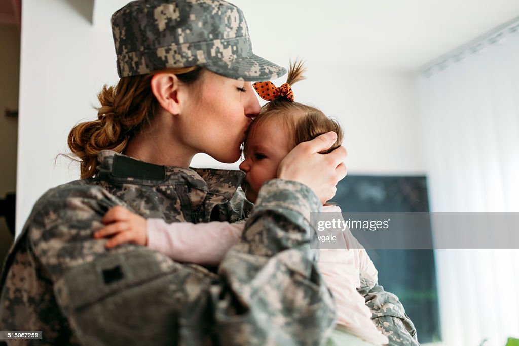 My Hero is back home. : Stock Photo