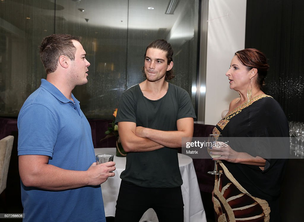 My Kitchen Rules 39 Contestants Cheryl And Matt With Actor Jackson