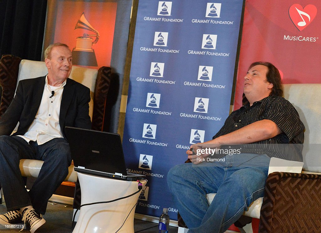 My Life Recording the Music of the Beatles, 4-time Grammy award recipient Geoff Emerick, Audio Engineers and Moderator Howard Massey attend GRAMMY GPS - A Road Map For Today's Music Pro at W Atlanta Buckhead on September 8, 2012 in Atlanta, Georgia.