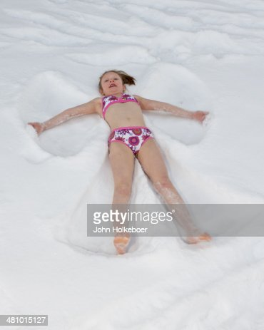 my little snow angel stock photo getty images