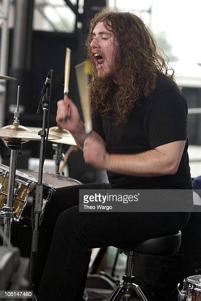 My Morning Jacket during Field Day Music Festival 2003 Show and Backstage at Giants Stadium in East Rutherford New Jersey United States