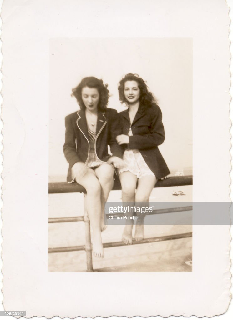 CONTENT] My mother (right) and my aunt (left) at Orchard Beach in the Bronx in May, 1947.