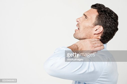 My neck, it's too painful ! : Stock Photo