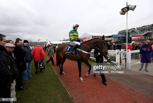 My Tent Or Yours ridden by Tony McCoy in the parade ring prior to the William Hill Supreme Novices' Hurdle during day one of the 2013 Cheltenham...