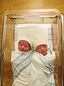 my twins in the hospital 24 hours after birth.