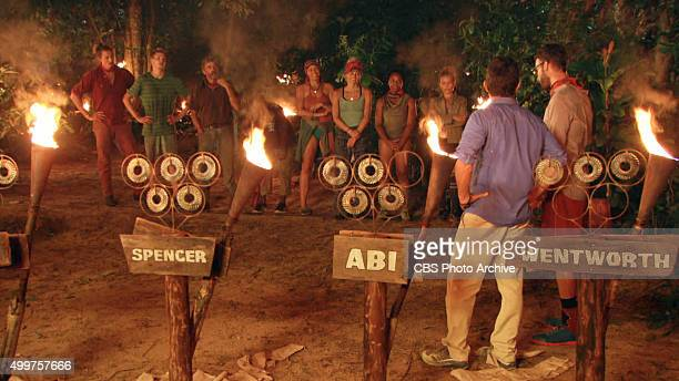 'My Wheels Are Spinning' Jeff Probst and Stephen Fishbach address the remaining survivors during the eleventh episode of SURVIVOR Wednesday Nov 25...