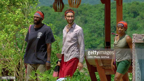 'My Wheels Are Spinning' Jeremy Collins Stephen Fishbach and Tasha Fox during the eleventh episode of SURVIVOR Wednesday Nov 25 The new season in...