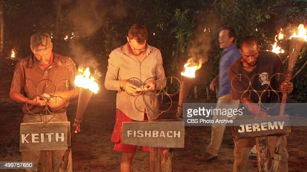 'My Wheels Are Spinning' Keith Nale Stephen Fishbach and Jeremy Collins during the eleventh episode of SURVIVOR Wednesday Nov 25 The new season in...