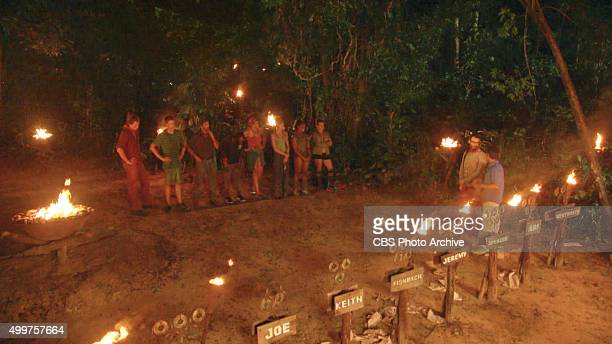 'My Wheels Are Spinning' Stephen Fishbach and Jeff Probst address the remaining survivors during the eleventh episode of SURVIVOR Wednesday Nov 25...
