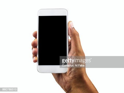 mi teléfono blanco vertical : Foto de stock
