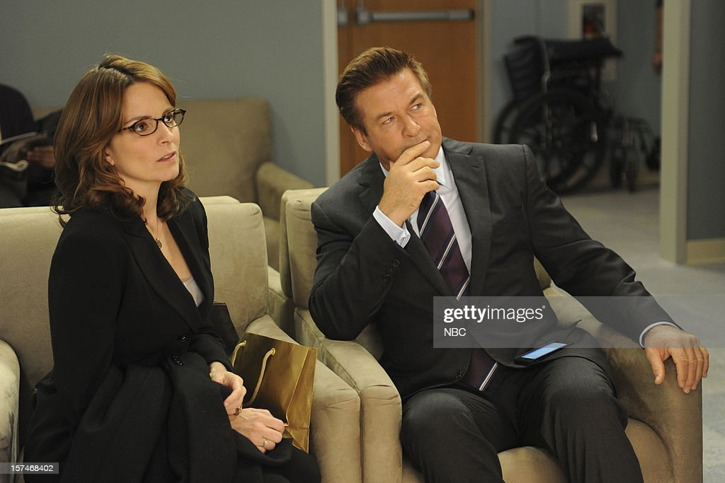 30 ROCK -- 'My Whole Life is Thunder' Episode 708 -- Pictured: (l-r) Tina Fey as Liz Lemon, Alec Baldwin as Jack Donaghy --